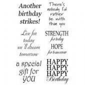 Woodware - Everyday Verse - Clear Magic Single Stamp Set - JGS379